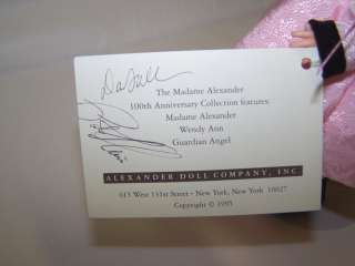 Alexander Madames Favorite Wendy 100th Anniv SIGNED Display No box