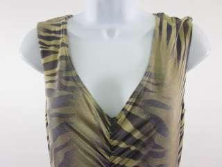 ABS BY ALLEN SCHWARTZ Brown Animal Print Dress Sz M