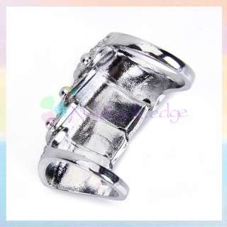 Punk Style Full Finger Armor Knuckle Hinged Double Two Ring w