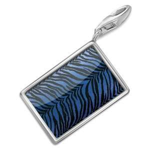 FotoCharms Tiger cat skin blue   Charm with Lobster Clasp For Charms