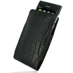 PDair VX1 Black / Crocodile Pattern Leather Case for Nokia