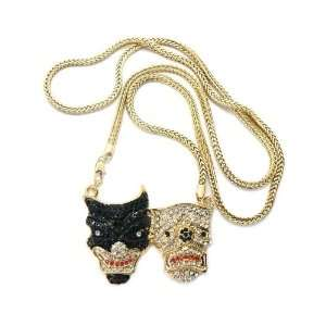 Iced Out Rhinestone LAUGH NOW CRY LATER Pendant Franco Chain MP749