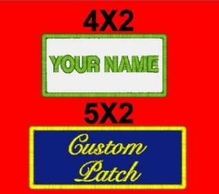 Custom Embroidered Name Patch Biker Motorcycle Tag Personalized Tag
