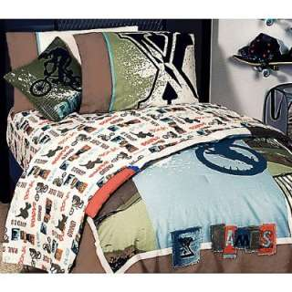 Extreme Sports XGames Twin Bedding Set Boys Motocross Comforter Sheets
