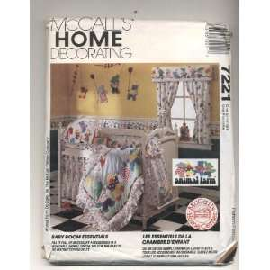 Home Decorating Baby Room Essentials Animal Farm Sewing Pattern # 7221