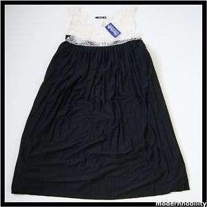 NEW JUNIORS STAR VIXEN BLACK & WHITE LACE DRESS LARGE