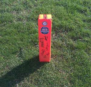2012 ALABAMA CRIMSON TIDE TEAM Signed Autographed BCS Football Pylon