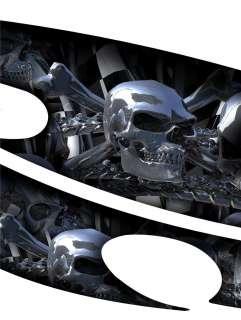 CHROME SKULLS Auto Vinyl Graphic Car Truck SUV Graphics