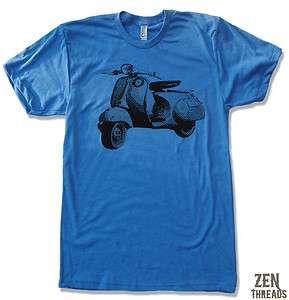 Mens VINTAGE VESPA Scooter Bike Cycle american apparel t shirt tee S M