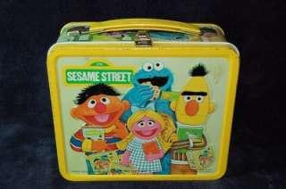Vintage 1979 Sesame Street Metal Tin Lunch Box Bert Ernie Cookie
