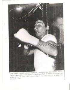 BOXEO, ENTRENAMIENTO DE CARLOS CANETE EN LA FOTO 1969 DE LUNA PARK