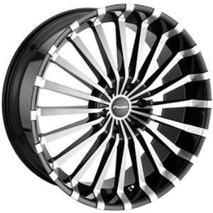 Panther Spline 22x8.5 Machined Black Wheel / Rim 5x120 with a 40mm
