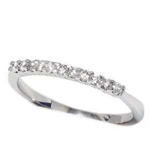 Platinum .25CT Stackable Round Diamond Wedding Ring