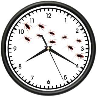 PEST CONTROL Wall Clock bug man exterminator fun gift