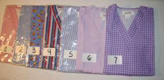 NEW I Care Scrubs Medical Uniform Nursing Tunic Top V Neck Stripe