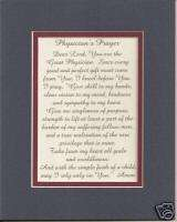 PHYSICIANs PRAYERs Doctors verses poems plaques