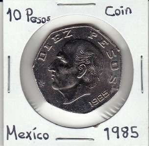 Banco de Mexico $ 10 Pesos Coin 1985, Visit My Store For Paper Money