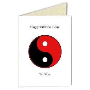 Valentines Day Greeting Card   Yin Yang (Red/Black) with