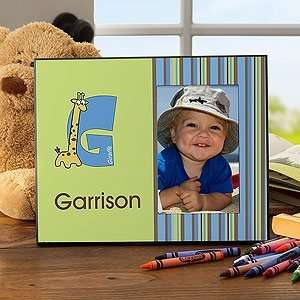 Personalized Boys Picture Frames   Alphabet Animals: Home