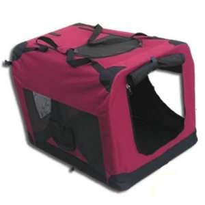 Soft Sided Pet Crate   XXL   Maroon