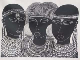 Maasai Girls from Amboseli Heidi Lange Screen Print Other Art