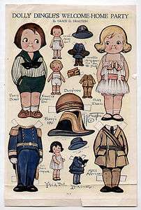 DINGLES WELCOME HOME paper dolls March 1919 WWI/Ambulance Uniform