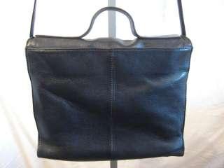 Womens Vtg Hobo International Black Leather Cross body,Messenger Bag