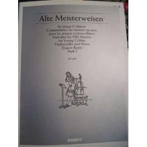 Alte Meisterweisen für junge Cellisten