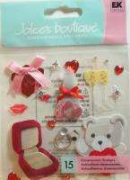 VALENTINES DAY JEWELRY CANDY GIFTS ~ Jolees Scrapbook Stickers