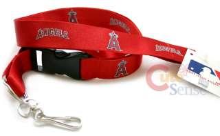 Anaheim Angels Lanyard MLB Key Chain ID Holder  Red
