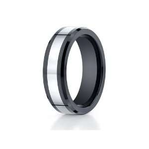 Benchmark® 7mm Tungsten Forge® Wedding Ring with Seranite Edge Size