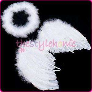 Baby Infant Newborn Feather Angel Wings & Halo props