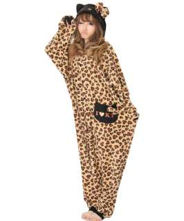 SAZAC Kigurumi Hello Kitty Heart Leopard JAPAN Fun Wear Pajamas