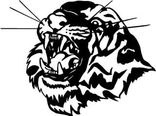 Tiger Head Large Vinyl Decal Car Truck Window Sticker 1