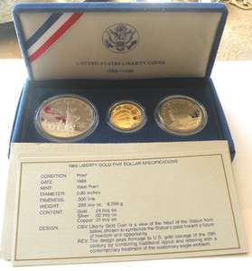 UNITED STATES LIBERTY GOLD SILVER PROOF COIN SET