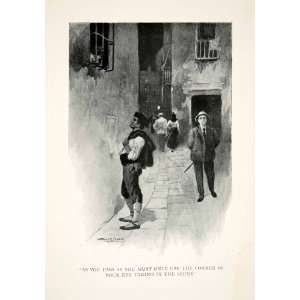 1904 Print Street Scene Spain Portrait Historic Costume Fashion Men