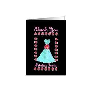 Wedding Greeter THANK YOU   Turquoise Gown Card: Health