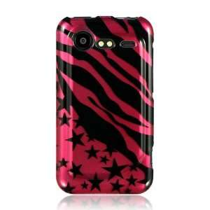 HTC Droid Incredible 2 Graphic Case   Hot Pink Zebra with Star (Free