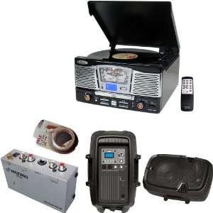 Turntable Preamp   PPHP803MU 8 600 Watt Powered Two Way PA Speaker