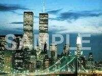 NEW YORK CITY SKYLINE w TWIN TOWERS Italian Charm nyc