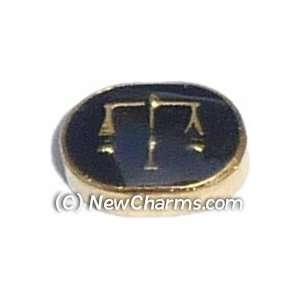 Libra Floating Locket Charm Jewelry