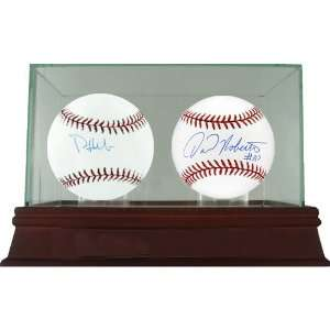 Phil Hughes/ David Robertson MLB Baseballs  2 Ball Set w/ Glass Double