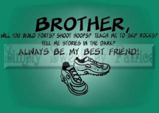 BROTHER BEST FRIEND Vinyl Lettering Wall Decor Decal