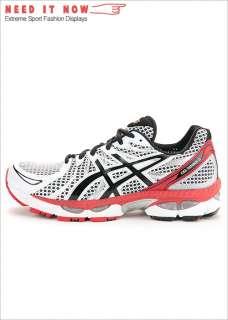 BN ASICS GEL NIMBUS 13 2E Running Shoes White, Onyx, Red T143N 0199