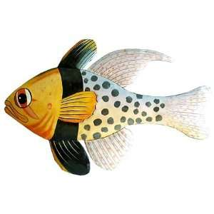 Spotted Tropical Fish Wall Hanging   Caribbean Steel Drum