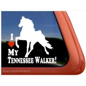 LOVE MY TENNESSEE WALKER! ~ Tennessee Walking Horse Trailer Vinyl
