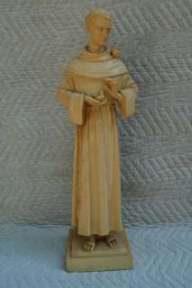 Older 24 Marble statue of St. Francis of Assisi +
