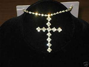 Austrian Crystal Collection Cross necklace/earrings K27