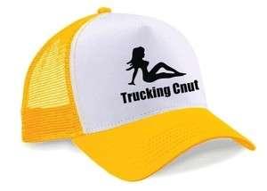Trucking Cnut Baseball Trucker Mesh Cap Hat BNWT Yellow