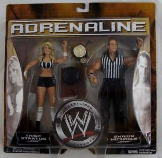 WWE Adrenaline Series 20 Trish Stratus and Shawn Michaels Action